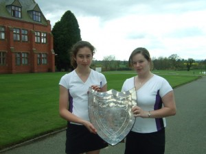 Ellesmere College Tennis Double Win U18 Midland Girls' Lawn Tennis Tournament